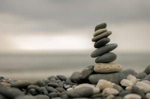 Stones Balanced on the Shore